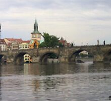 Panorama of the Vltava River and the Charles Bridge by Frans Harren