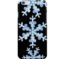 Snowflake Translucent Blue & Black Background iPhone Case/Skin