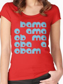 obama : text stacks Women's Fitted Scoop T-Shirt