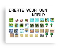 Create your own pixel art world! Canvas Print