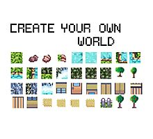 Create your own pixel art world! Photographic Print