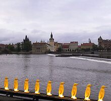 Panorama of River Vltava  as seen from Museum Kampa by Frans Harren
