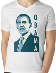 obama : verticle text Mens V-Neck T-Shirt