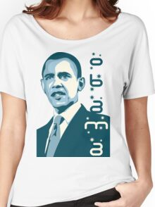 obama : verticle text Women's Relaxed Fit T-Shirt