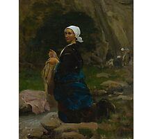 Jules Breton Washerwoman in Brittany 1865 Photographic Print