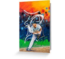 "Justin Verlander ""Smokin"" Greeting Card"