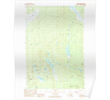 Maine USGS Historical Map St John Ponds 103004 1989 24000 Poster