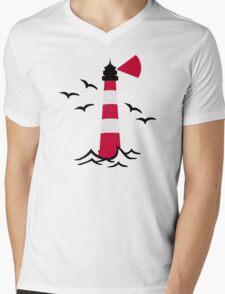 Lighthouse waves birds T-Shirt