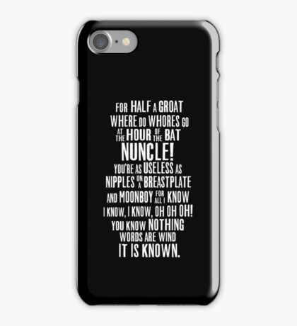 ASOIAF Phrases iPhone Case/Skin