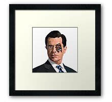Stephen Colbert Terminator Framed Print