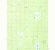 Maine USGS Historical Map St John Ponds Depot 103003 1989 24000 by wetdryvac