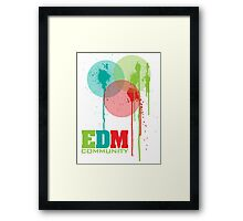 EDM Community (interacting bubbles) Framed Print