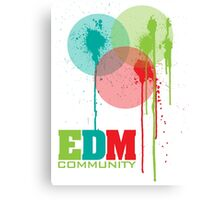 EDM Community (interacting bubbles) Canvas Print