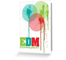 EDM Community (interacting bubbles) Greeting Card