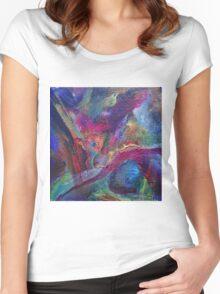 """Autumn River"" original artwork Women's Fitted Scoop T-Shirt"