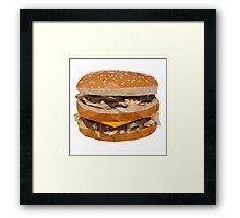 Cheese Burger in Polygons Framed Print