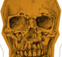 Yellow Skull Sticker