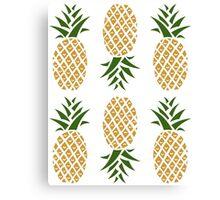 Pineapples (six) Canvas Print