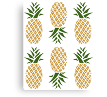 Pineapples (six) Canvas Print