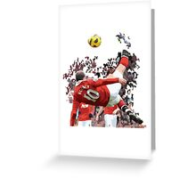 WAYNE ROONEY Greeting Card