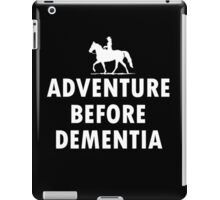Horse Adventure before dementia new iPad Case/Skin