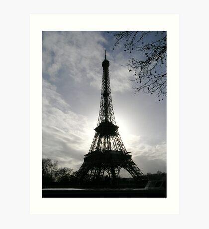 The dark and light of Paris Art Print