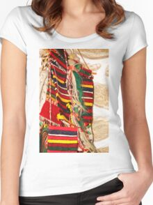 Traditional Bulgarian Knitting Women's Fitted Scoop T-Shirt
