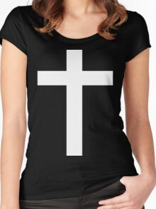 Faith (white) Women's Fitted Scoop T-Shirt