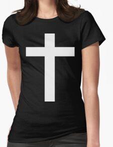 Faith (white) Womens Fitted T-Shirt