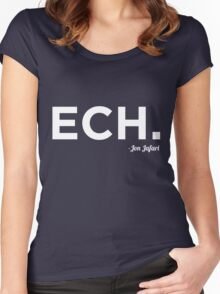 ECH White Women's Fitted Scoop T-Shirt