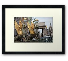 Griffins guard the St. Petersburg Framed Print