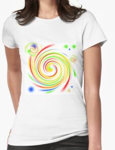 Color Swirls Womens Fitted T-Shirt