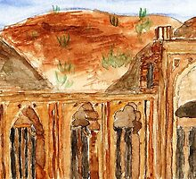 the old masjid in ruins Ajmer. by taariqhassan