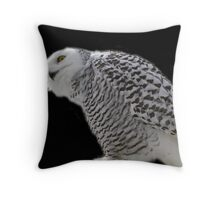 whoooo's there Throw Pillow