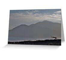 Beach Hut, Kaikoura, NZ Greeting Card