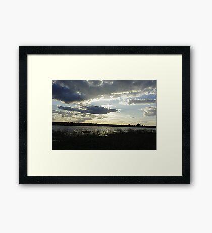 Where Earth Meets Sky Framed Print