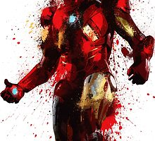 """Iron Man"" Splatter Art by KYCollectibles"