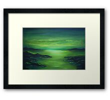 Green silence Framed Print