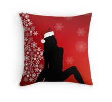 Sexy Christmas Throw Pillow