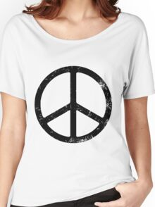 PEACE SIGN Women's Relaxed Fit T-Shirt