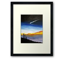 Blue Sky Some Pain Framed Print