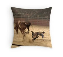 Equitana Rodeo 2008 - Biting the Dust Throw Pillow