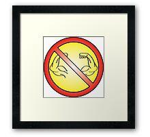 No Flex Zone Framed Print