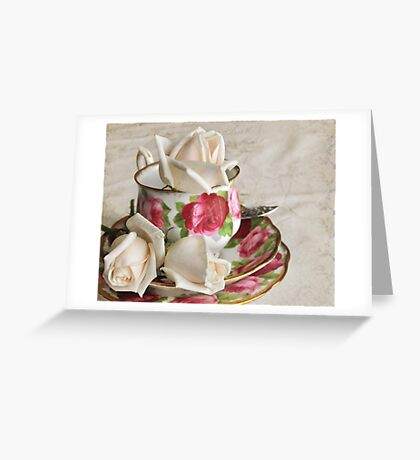 Cup  o´roses Greeting Card