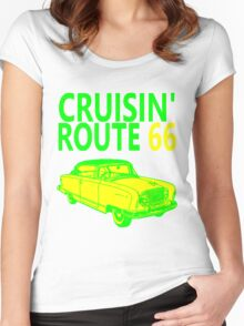 CRUISIN' ROUTE 66 Women's Fitted Scoop T-Shirt
