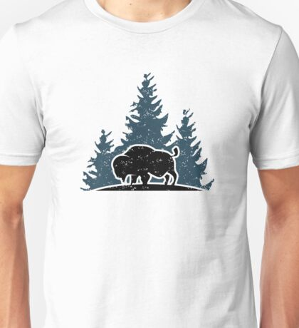 Buffalo in the woods Unisex T-Shirt