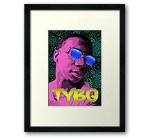 Pixel Art Lil B Framed Print
