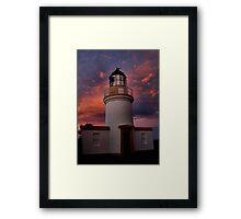 Lighthouse evening Framed Print