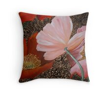 Four Poppies Throw Pillow