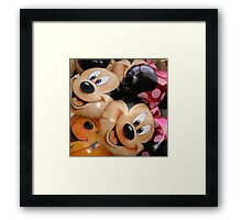 Micky and Minnie Mouse balloons Framed Print